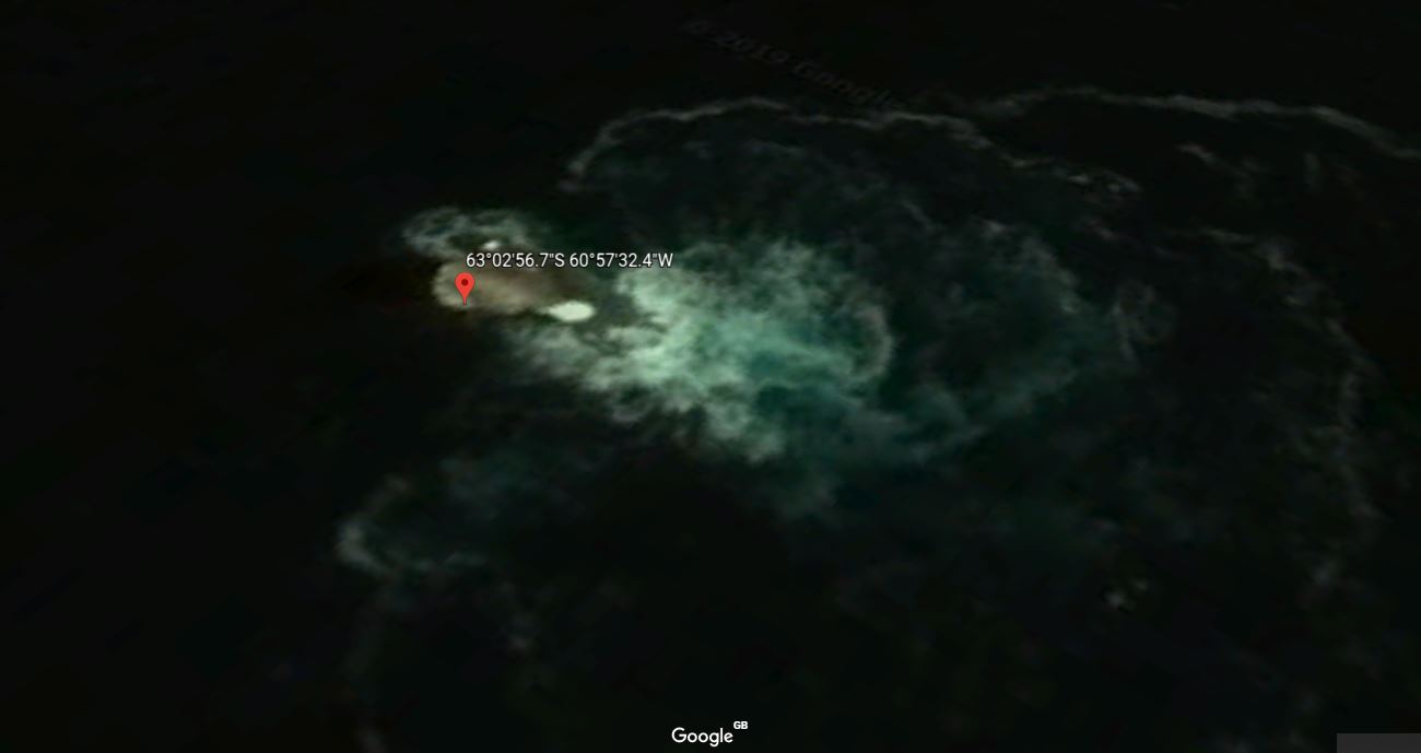Or Maybe This Is An Underwater UFO? Credit: Google Earth
