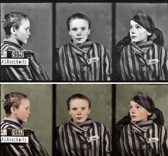 Joachim has restored old photographs of prisoners and victims of the Second World War. Credit: Joachim West