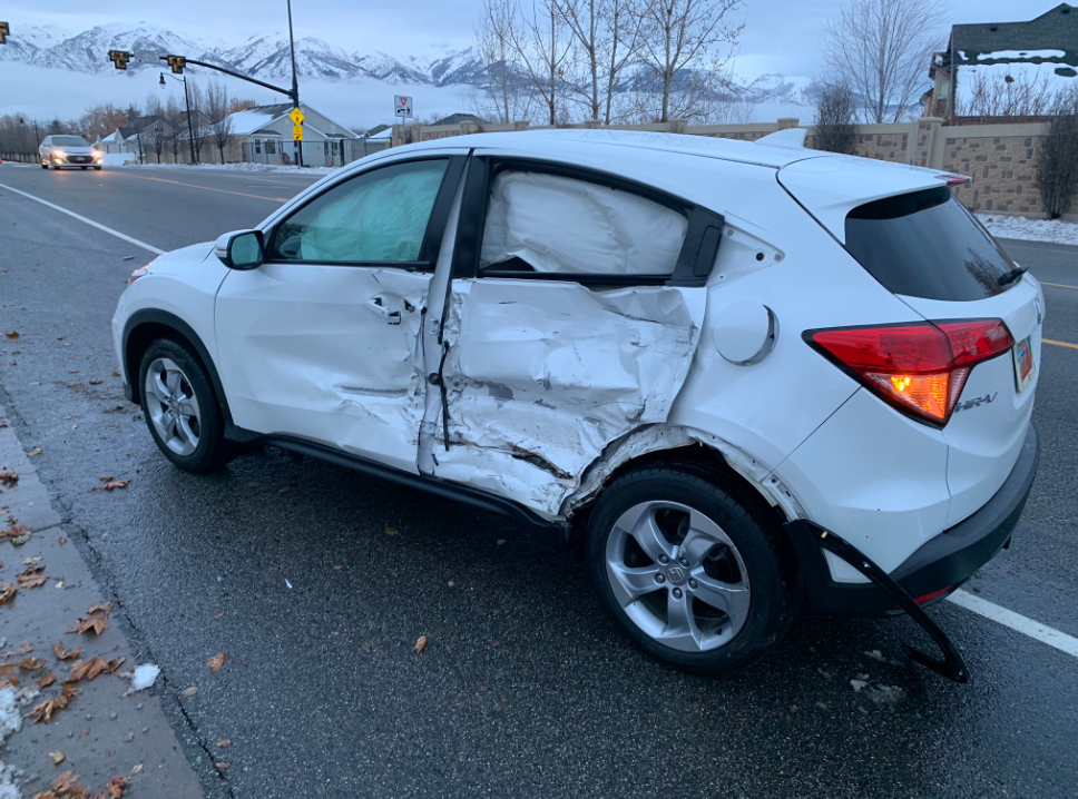 The teen hit another car. Credit: Layton Police Department