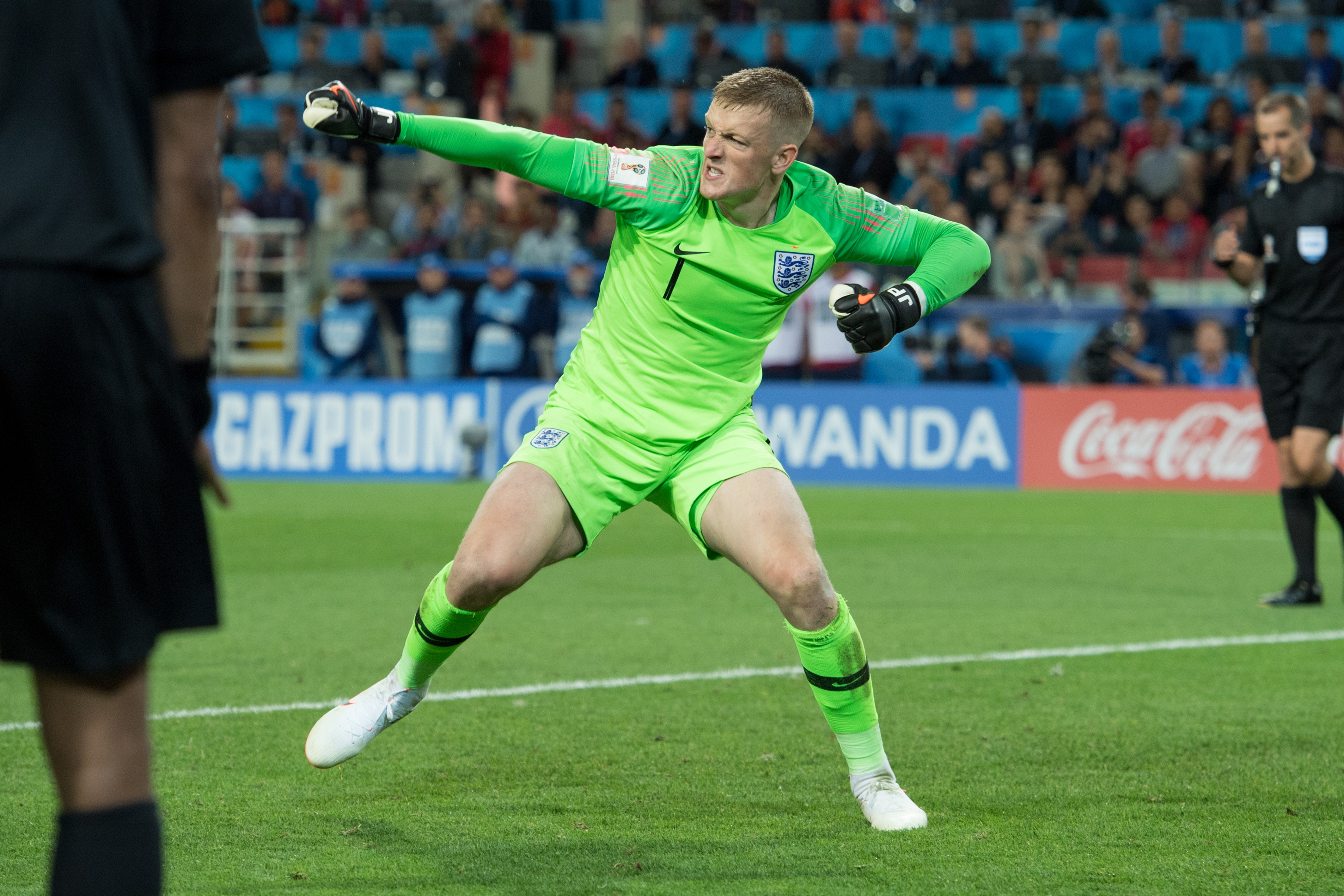 Pickford became a national hero in Russia. Image: PA