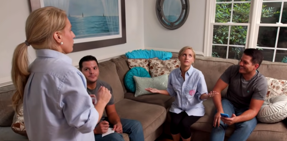 The identical twin husband and wife pairings all live together and play charades, apparently. Credit: TLC