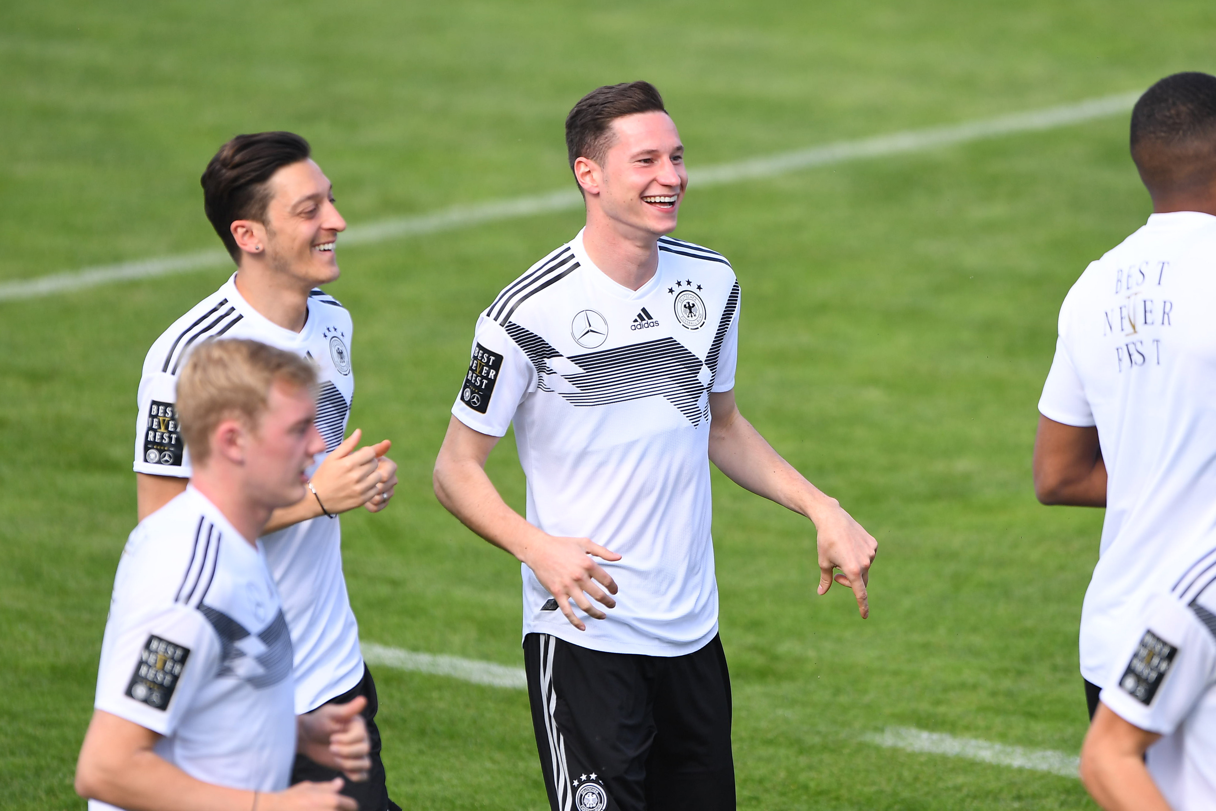 Draxler during Germany training. Image: PA