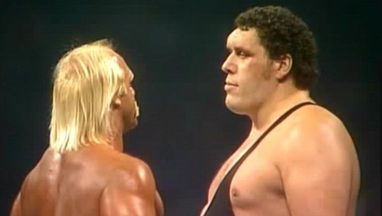 Hulk Hogan and Andre The Giant In Their Rivalry Days. Credit WWE