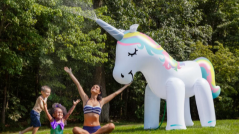 This Giant Unicorn Sprinkler Is A Summer Party Dream Come True