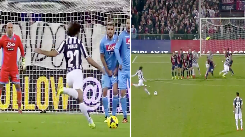 Watch: This Andrea Pirlo Free-Kick Compilation Will Never Get Old