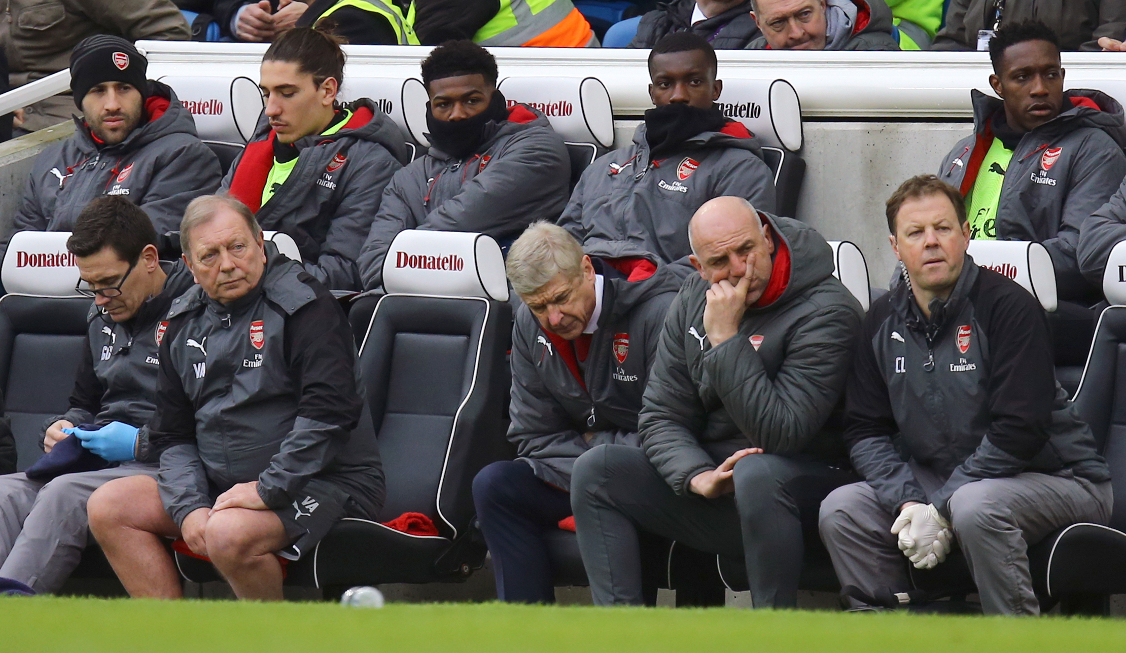 Wenger Watches His Side Lose To Brighton