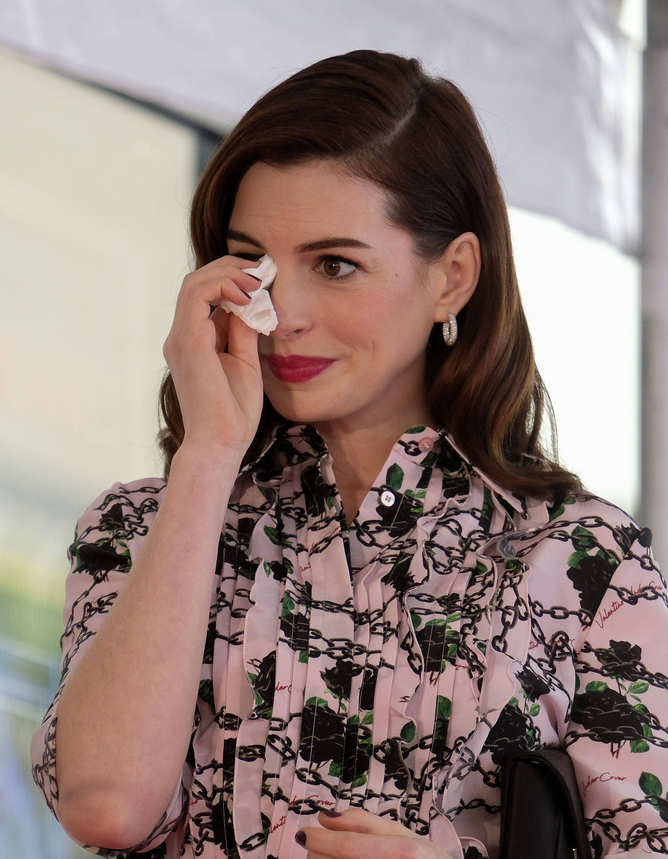 Anne Hathaway was honoured with a star on the Hollywood Walk of Fame. Credit: PA