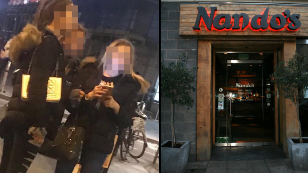 Teenagers Criticised For Allegedly Taunting Homeless Man In Nando's