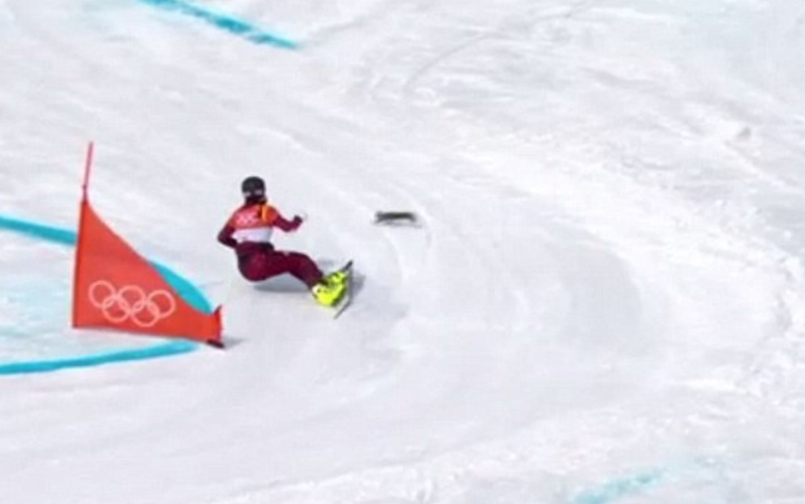 A squirrel with a death wish? Reckless rodent upstages Olympic snowboard run