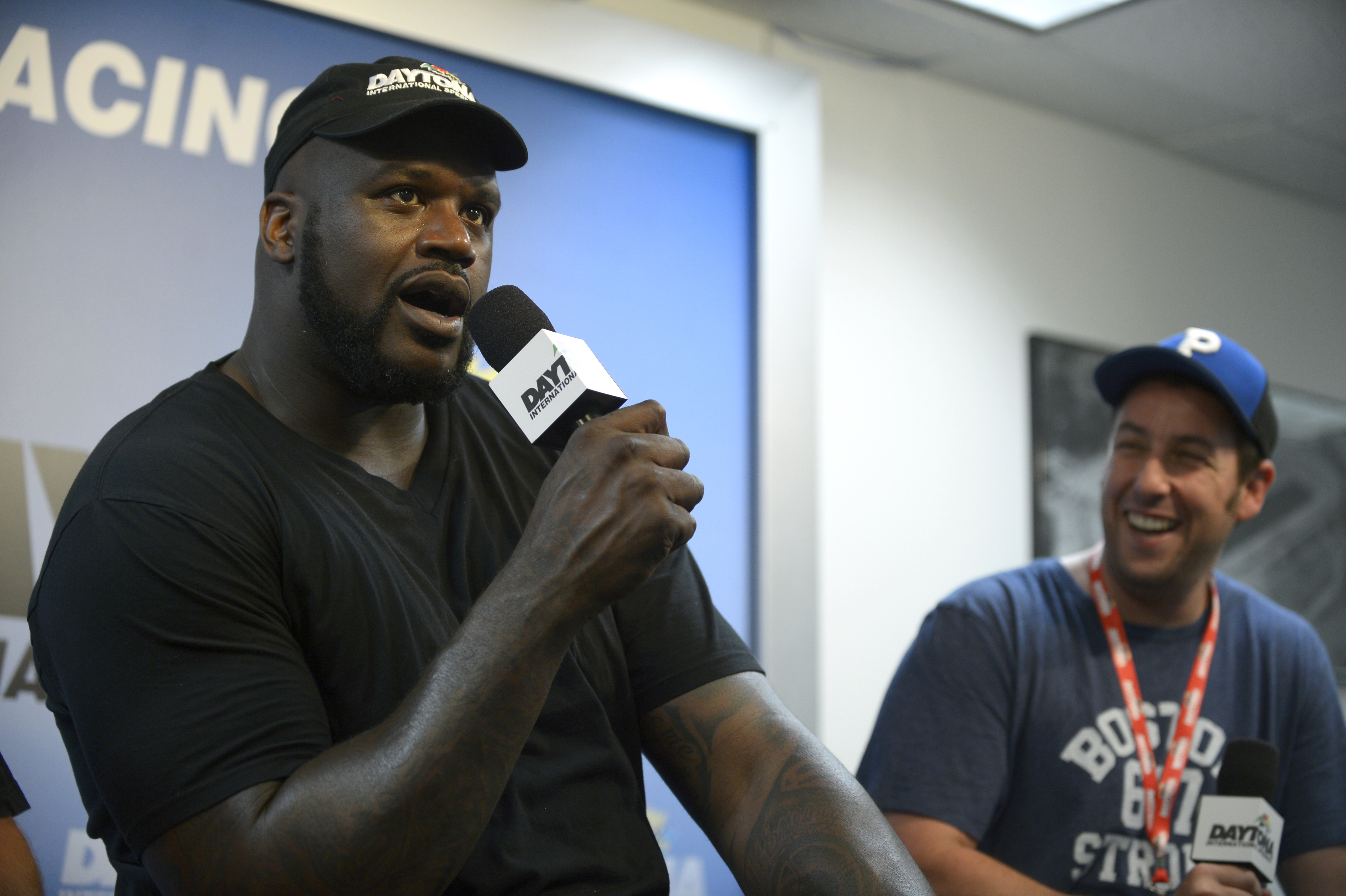 Gilmore with fellow sports star Shaquille O'Neal
