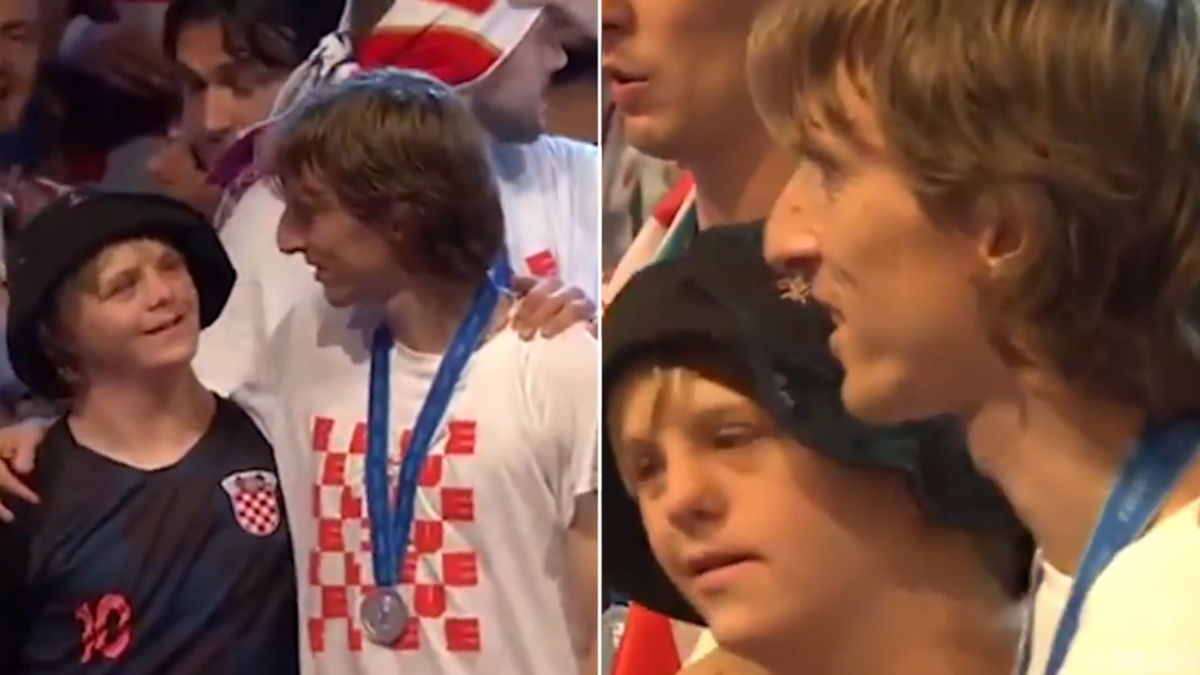 Luka Modric Brought Young Fan On Stage To Celebrate World Cup Success