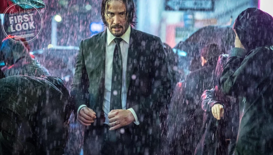 Keanu Reeves in John Wick 3. Credit: Entertainment Weekly/Lionsgate