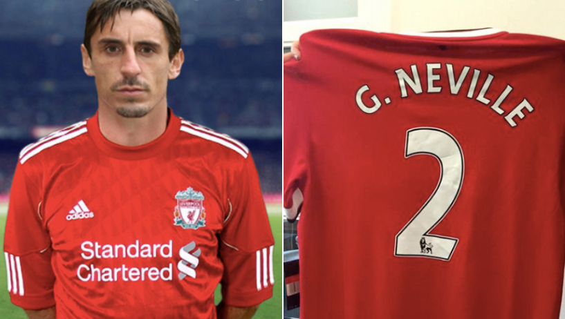 Gary Neville To Wear Liverpool Shirt On Sky Sports After Losing Bet