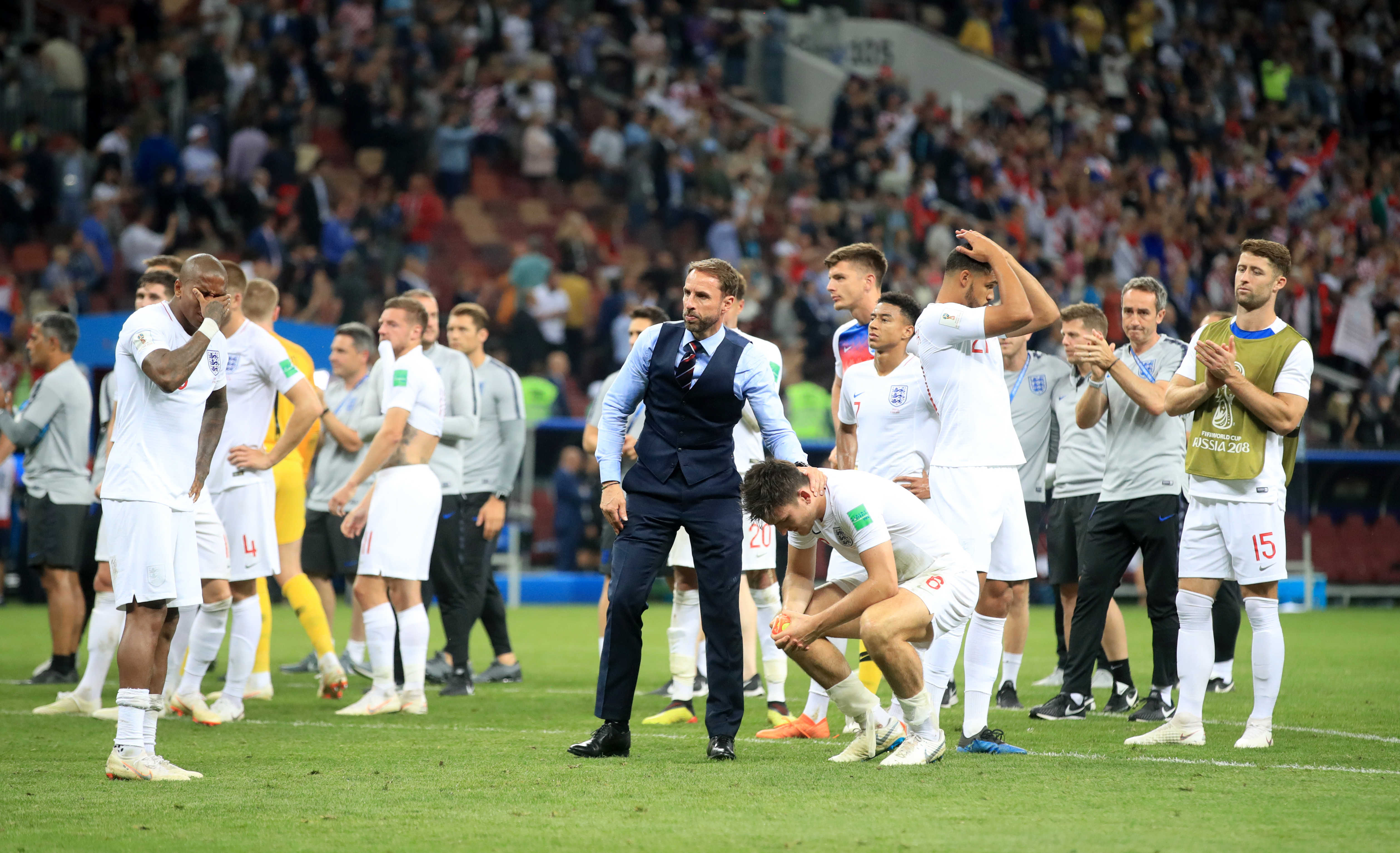 England after losing their semi-final against Croatia. Image: PA Images