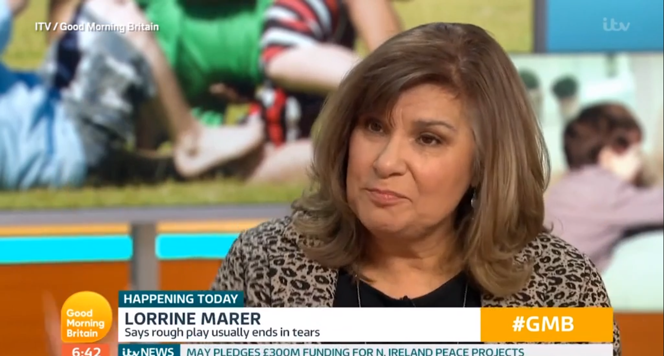 Behavioural specialist Lorrine Marer says play-fighting is problematic. Credit: ITV/Good Morning Britain