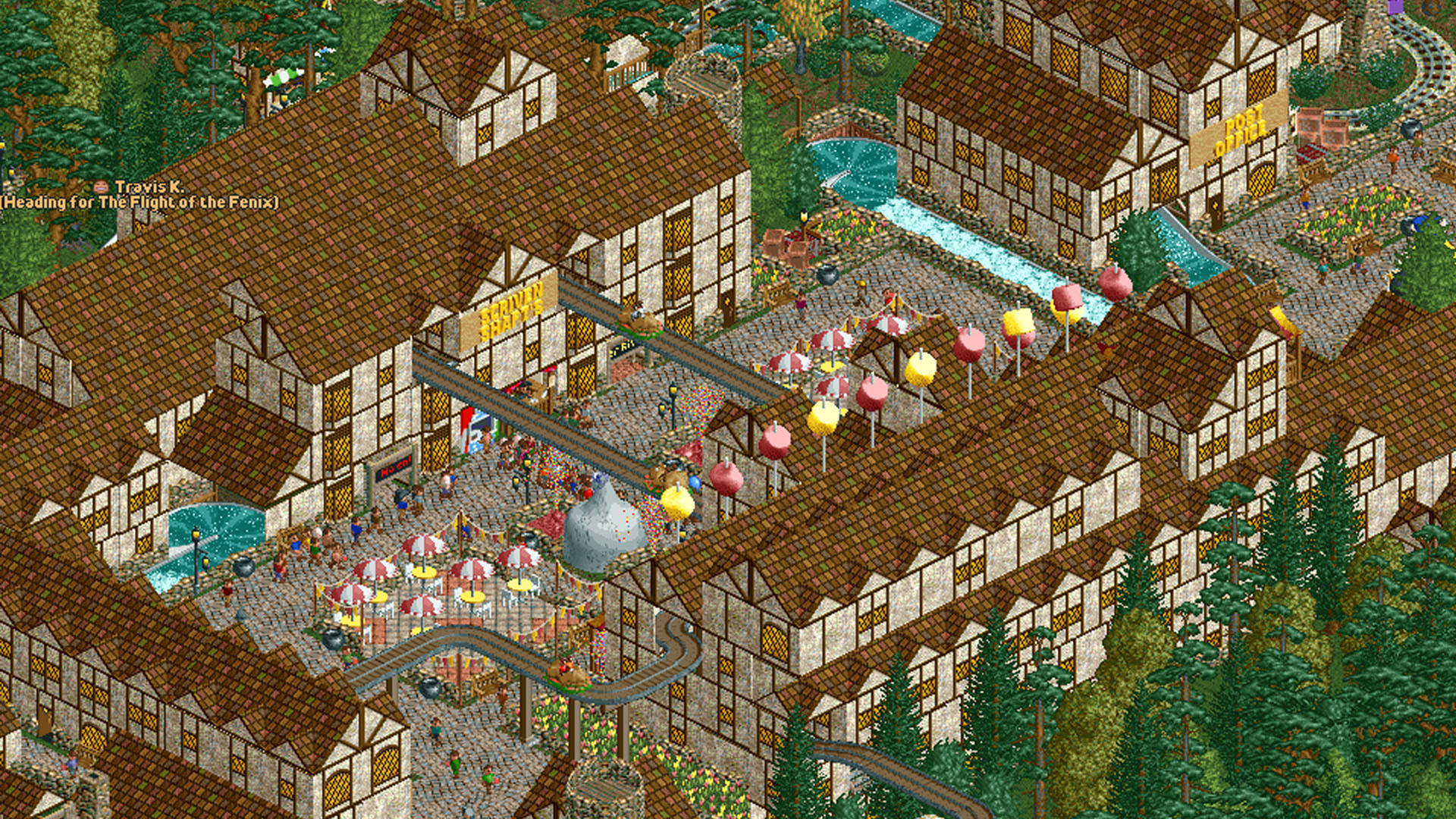 This Fan's Harry Potter Theme Park In 'RollerCoaster Tycoon 2' Is