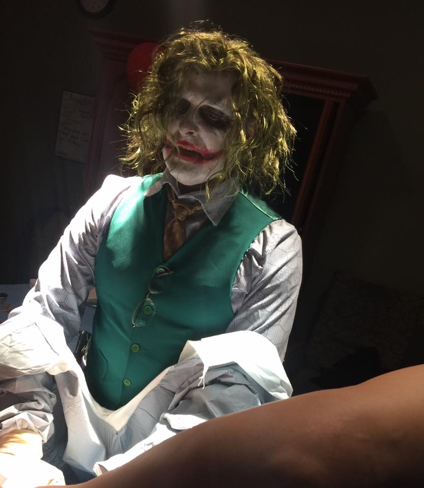 Doctor Dressed As The Joker For Halloween Delivers Baby Girl