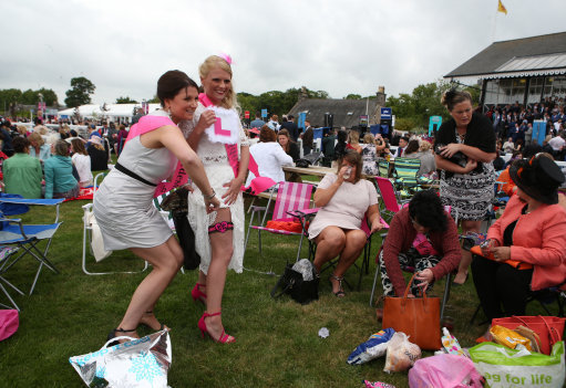 Image of a hen party and the light-hearted fun that can be had. Credit: PA