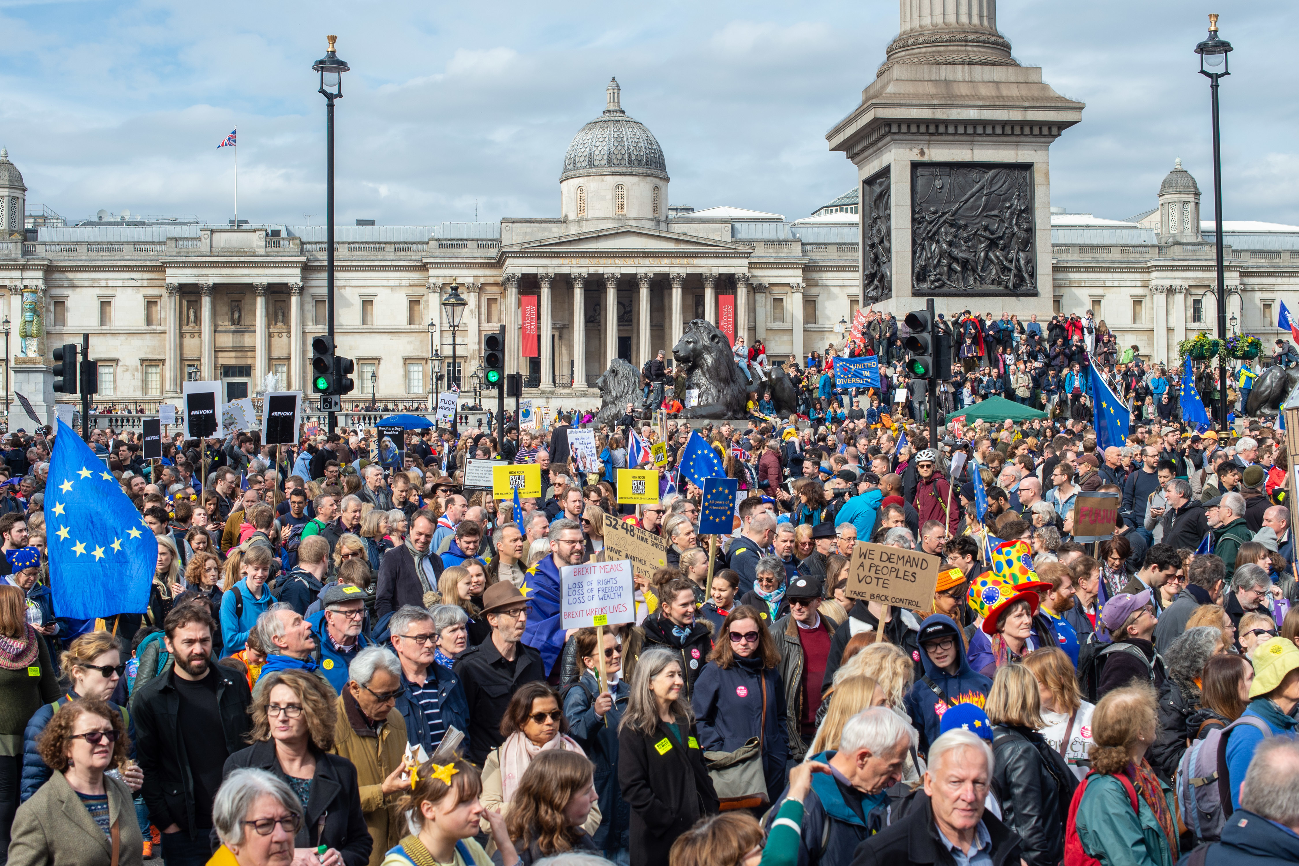 Around a million people protested in London this weekend. Credit: PA