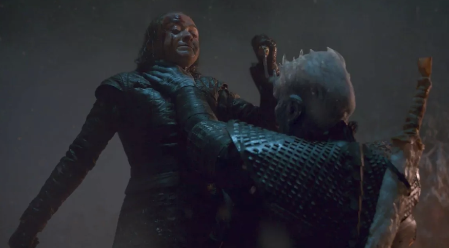 The Night King was finally defeated by Arya Stark, who shanked him with some dragon glass. Credit: HBO