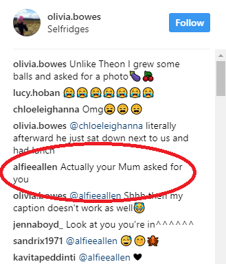 Alfie Allen responds to photo