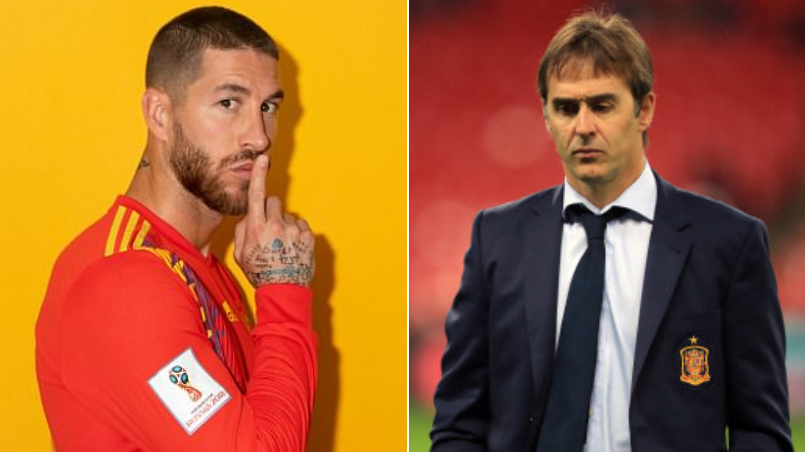 Sergio Ramos Tweets Following The Sacking Of Spain Manager Julen Lopetegui