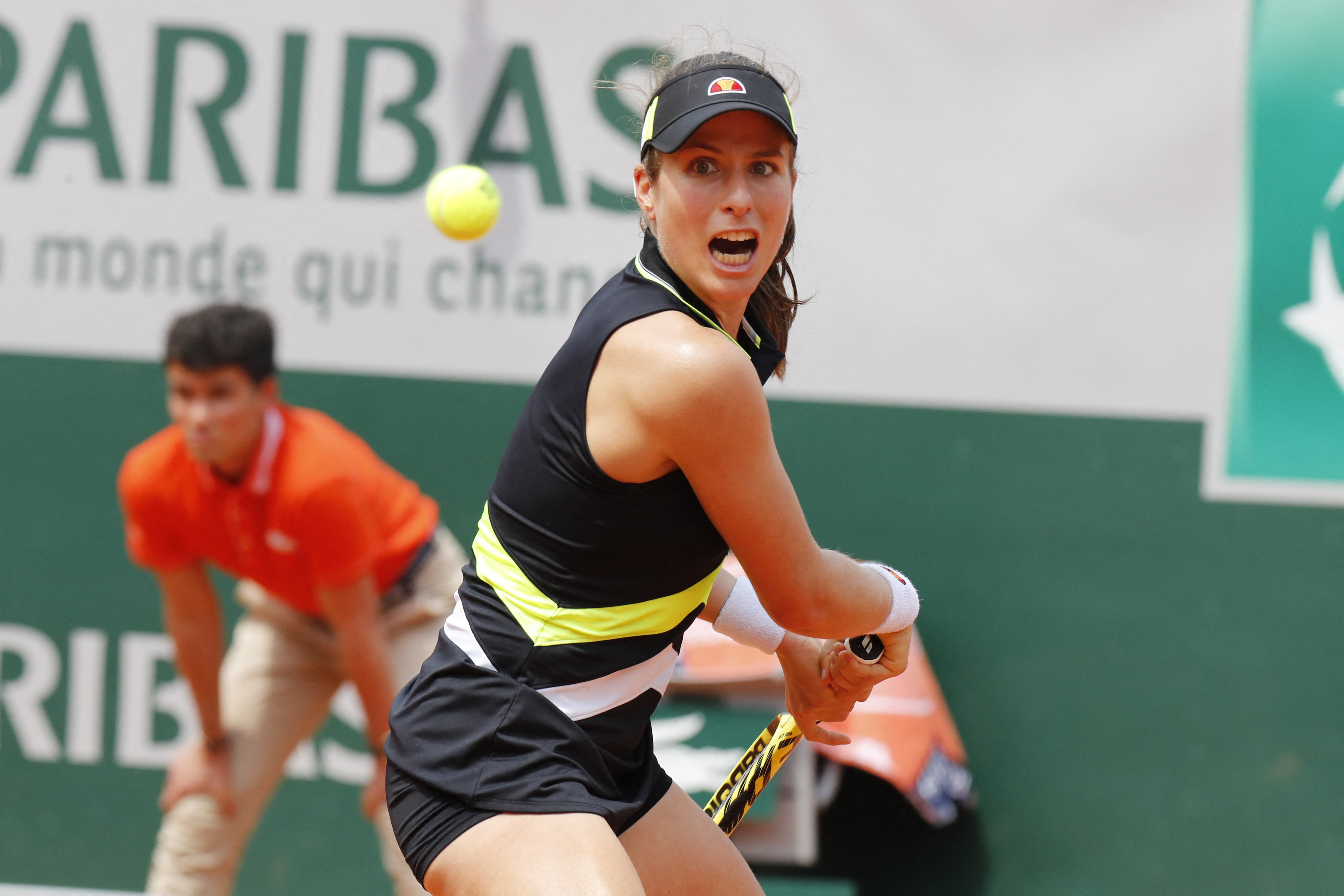 Konta reached the semi final at Roland Garros, beating Sloane Stephens in the quarter. Image: PA Images