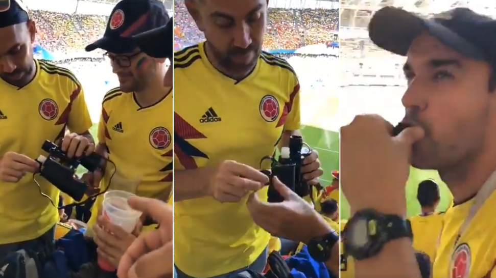 Colombian Fans Given Warning After Using A Pair Of Fake Binoculars To Smuggle Liquor Into Stadium