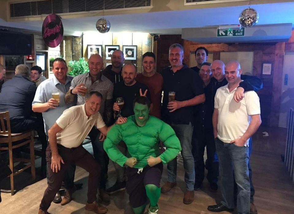 Anthony Gardiner thought all his mates would turn up in their fancy dress outfits as well. Credit: NCJ Media