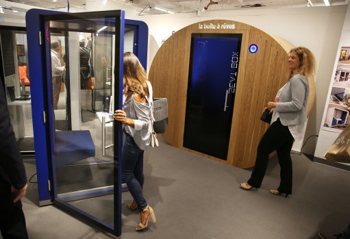 A number of manufacturers have come up with office ''sleep pods,'' designed for a power nap or more elaborate relaxation techniques. Credit: PA