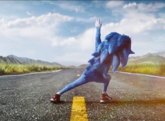 Meet the all-new, CGI Sonic the Hedgehog. Credit:  Paramount Pictures