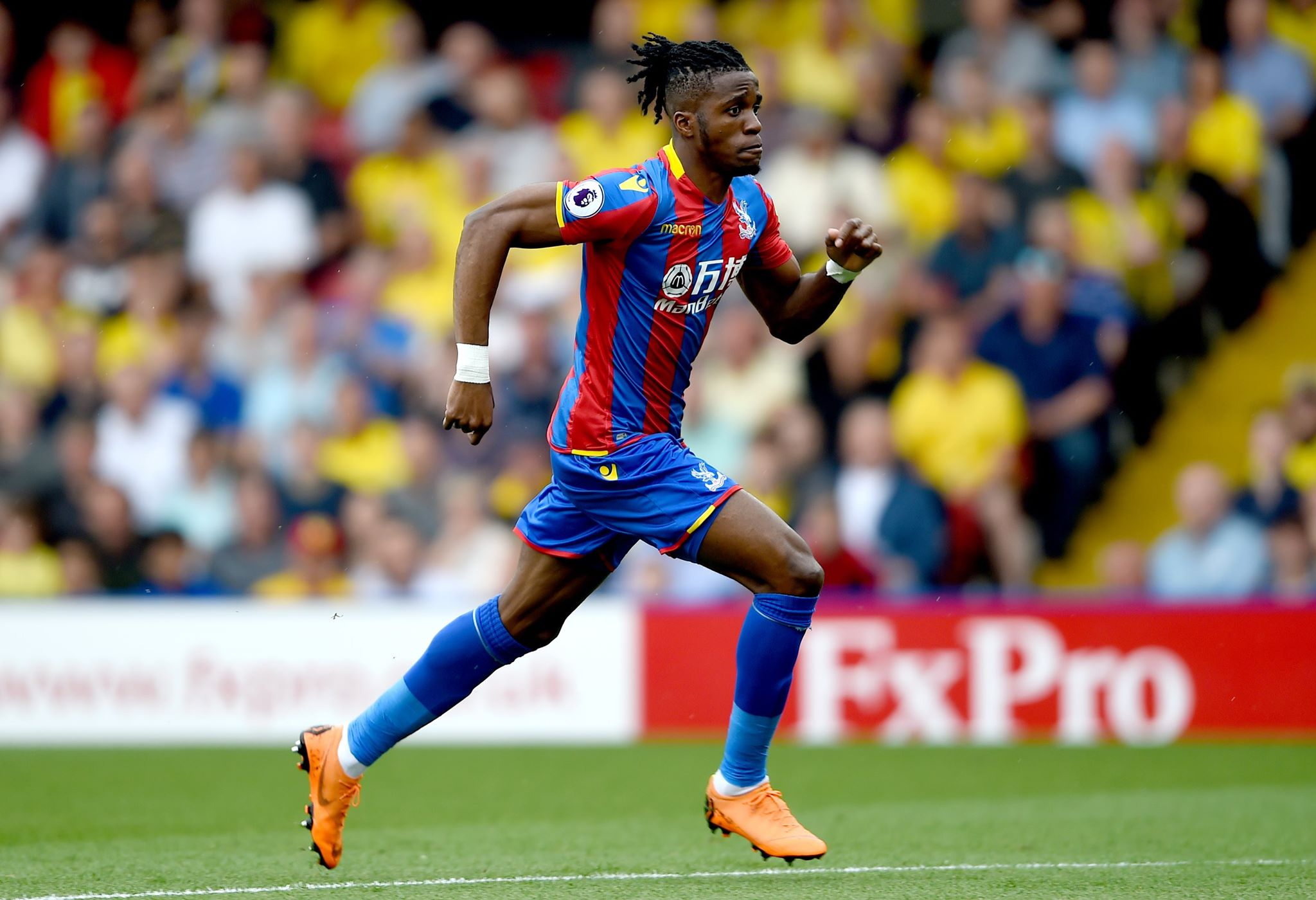 Zaha in action for Palace. Image: PA