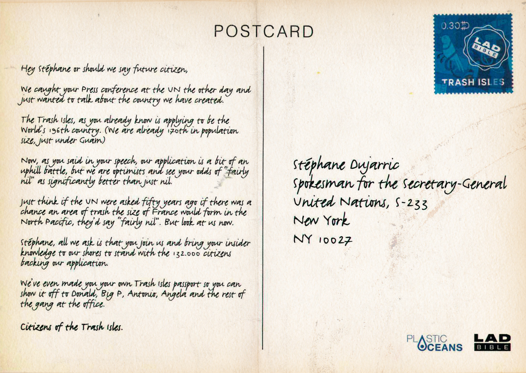 Trash Isles Postcard