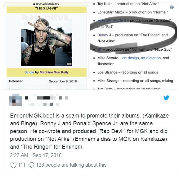 Machine Gun Kelly And Eminem's Diss Tracks Both Produced By Ronny J