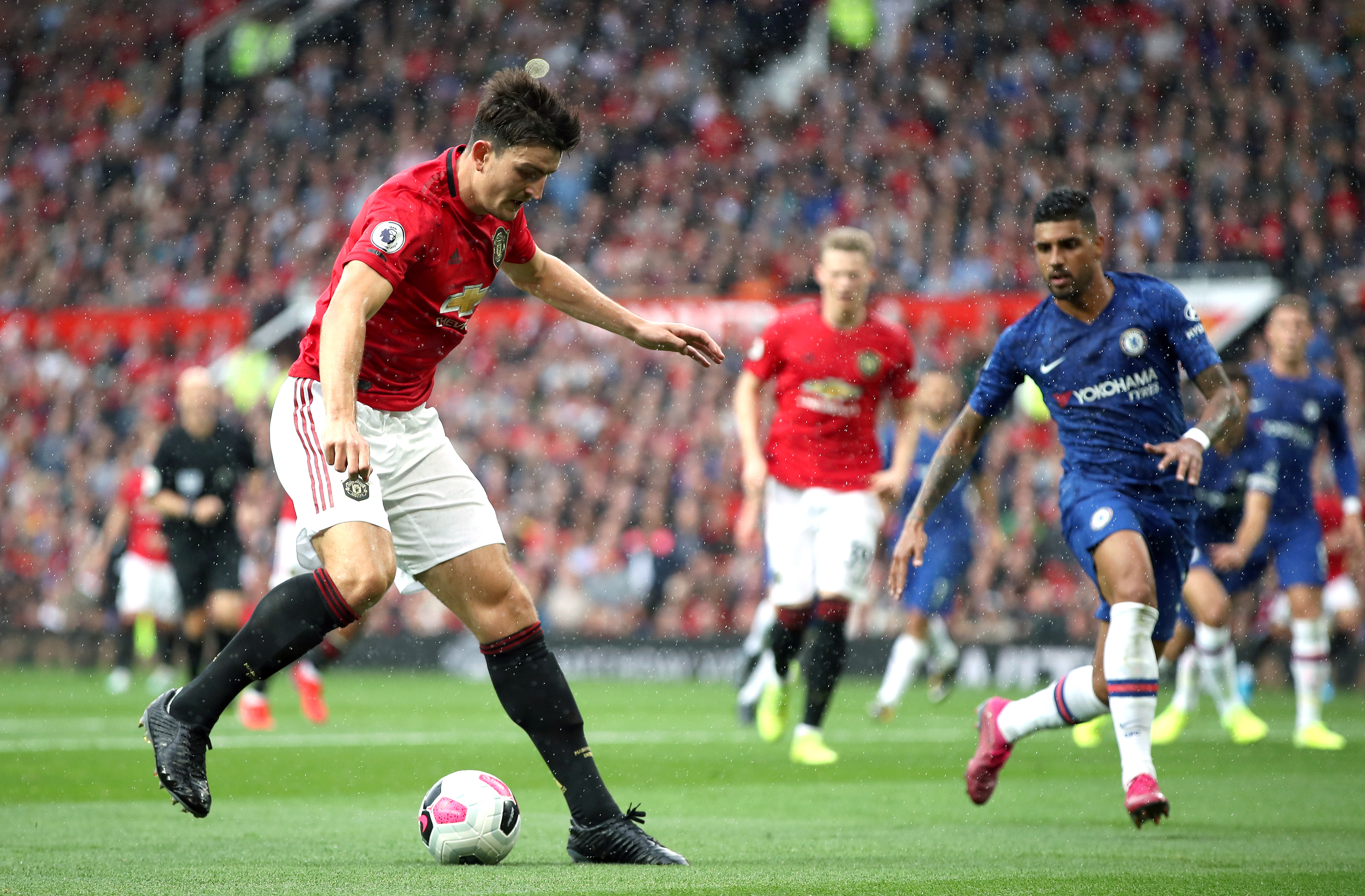 Harry Maguire was named man of the match on his Manchester United debut against Chelsea