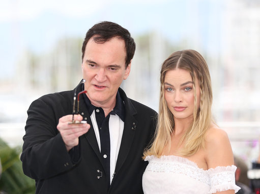 Quentin Tarantino and Margot Robbie at Cannes Film Festival. Credit: PA