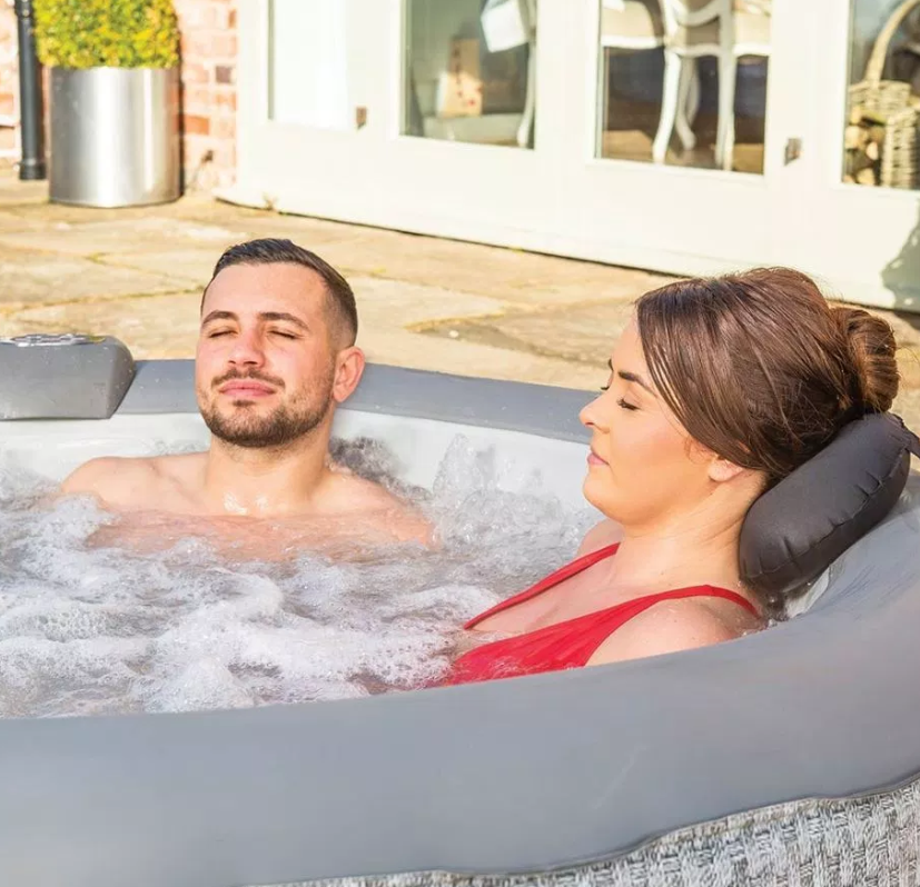It has 110 jets which can be controlled from a panel in the side of the hot tub. Credit: Tesco