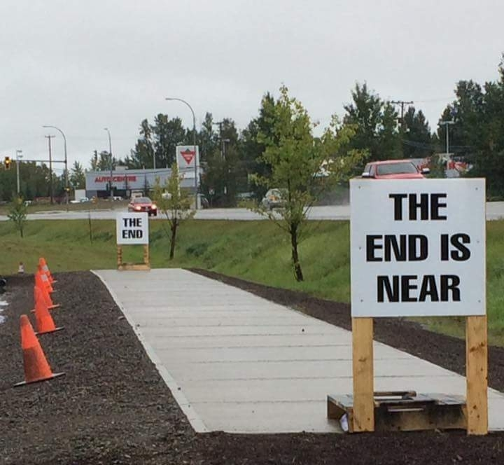 The end is near.