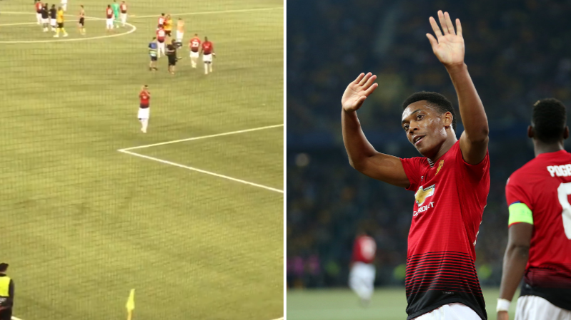 Anthony Martial Applauds Manchester United Fans As They Serenade Him