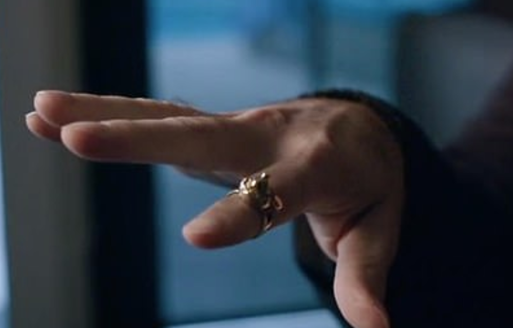 During an interview in the documentary, Safechuck pulls out jewellery he says he was given by the King of Pop. Credit: HBO
