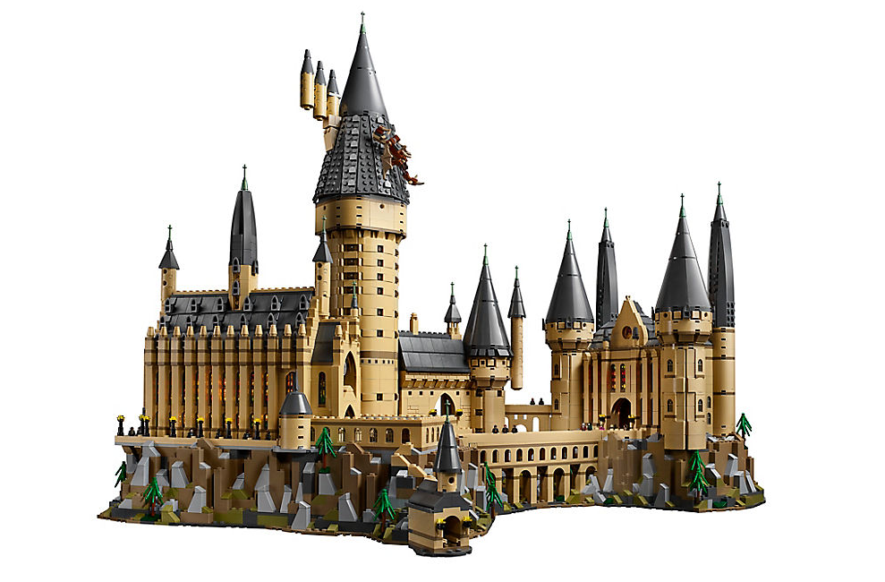 The intricate model is made up of more than 6,000 pieces. Credit: Lego