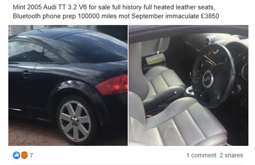 Sarah said Mark put the car up for sale an hour after buying it. Credit: Kennedy News and Media