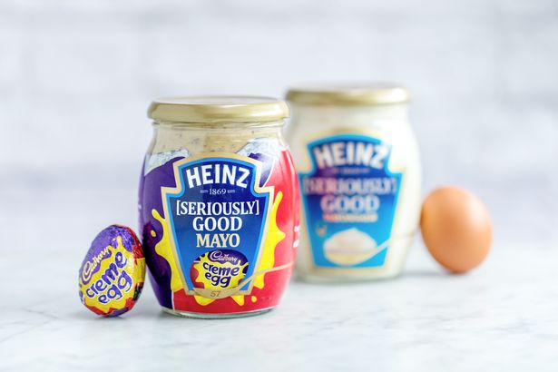 Heinz Mayonnaise meets the Cadbury Creme Egg. Credit: Heinz/Cadbury