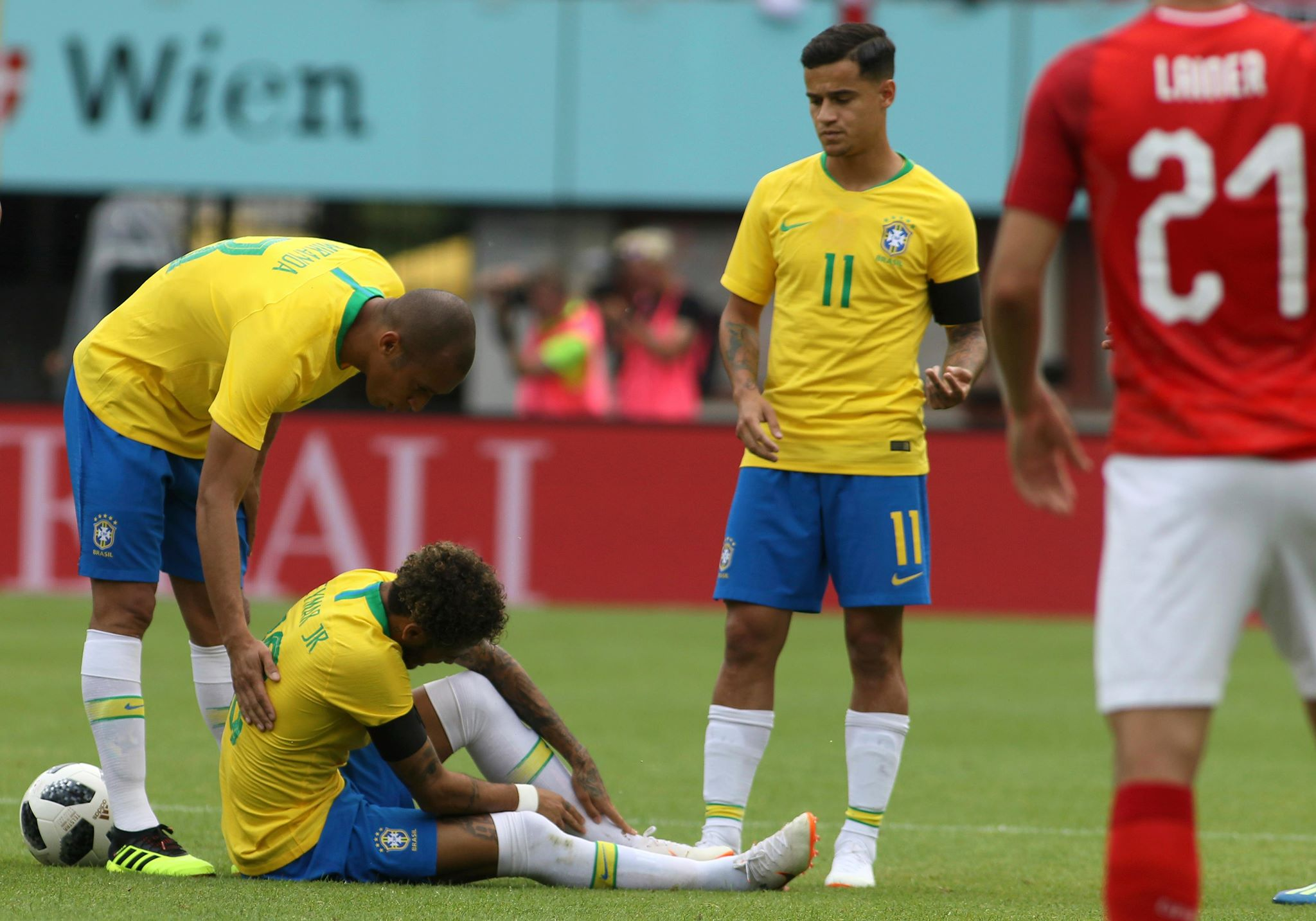 More pain for Neymar. Image: PA
