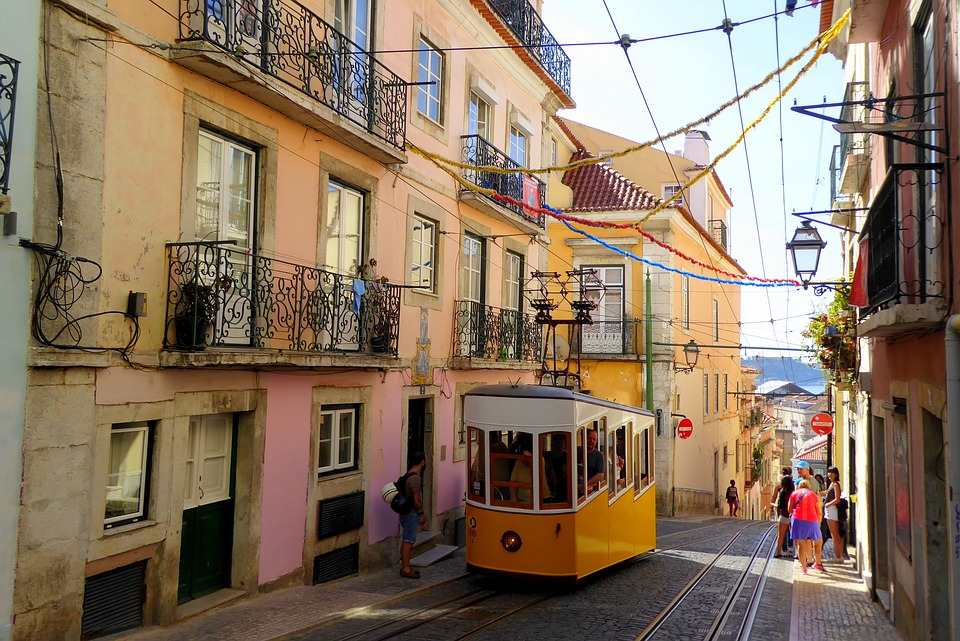 You could also visit the yellow trams in Lisbon. (Credit: Pixabay)