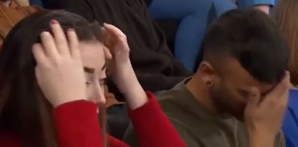 Audience reaction when Gail said she fell pregnant because she was breastfeeding. Credit: ITV/The Jeremy Kyle Show