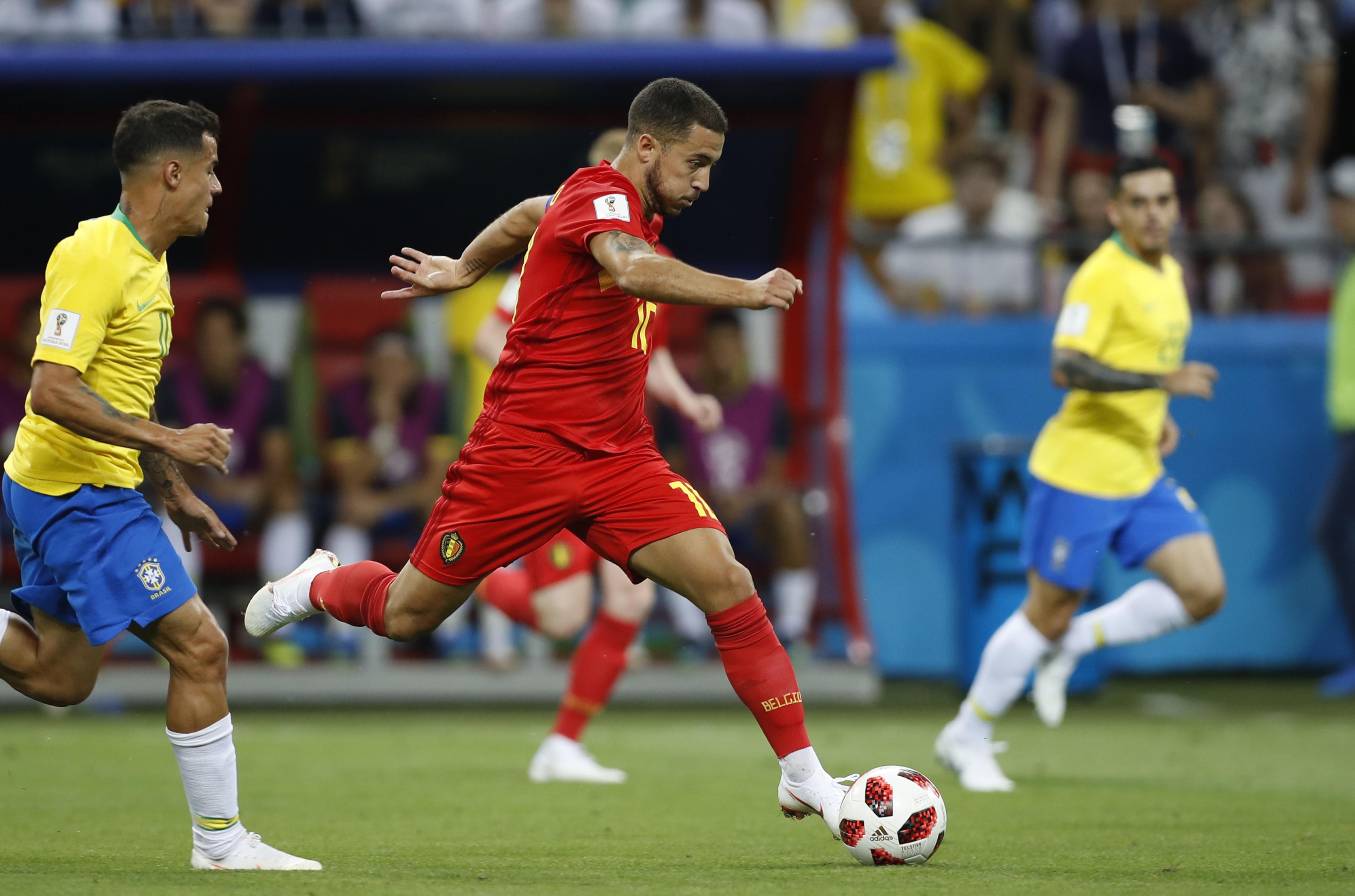 Hazard on the ball. Image: PA