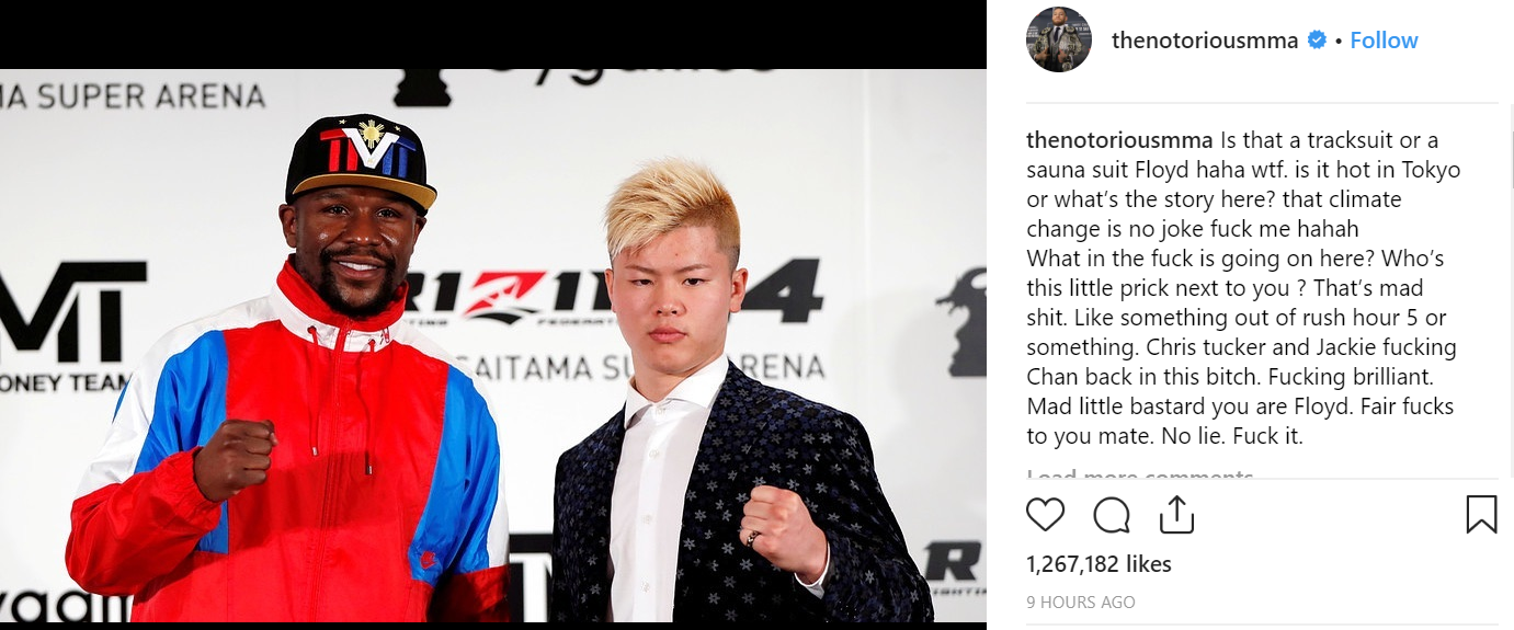 Credit: Instagram/thenotoriousmma