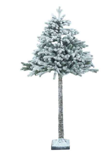 The 'half-trees' come in green or 'snowy'. Credit: Argos