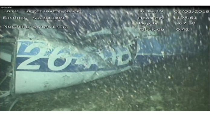 The plane wreckage was found on Sunday. Credit: AAIB